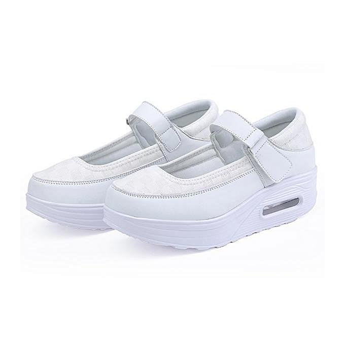 e0447d48d513 Fashion Women Breathable Rocker Sole Hook Loop Platform Shake Sport Shoes  Sneakers-EU