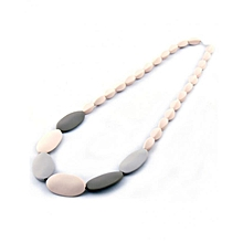 Baby Teether Necklace - Pebbles Natural - Cream