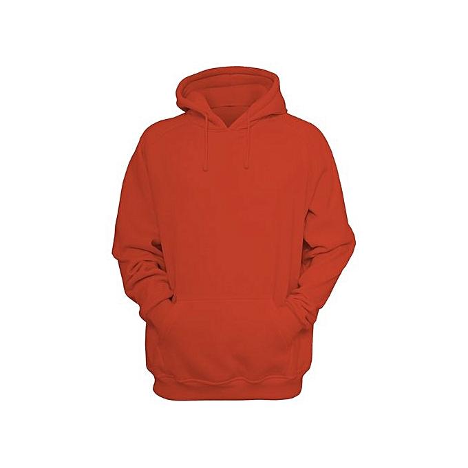 Generic Plain Orange Hoodie   Best Price  89af4928d