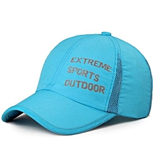 Unisex Men Women Golf Hip-hop Strapback Hats Sports Baseball Sun Snapback Cap Lake Blue