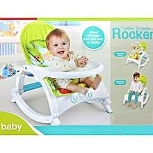 2 IN 1 Toddler Portable Rocker Dining Table Newborn to Toddler