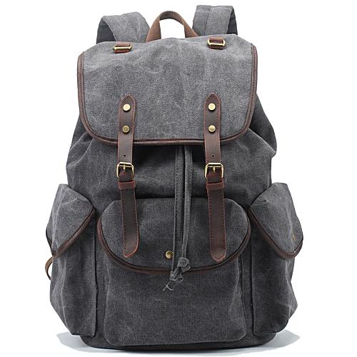 898ccff569 MUYI Vintage Style Men s Canvas Shoulder Casual School Military Messenger Travel  Bag