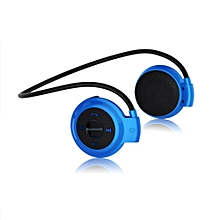 Wireless Bluetooth Headset Handsfree Stereo Earphones And Sport Neckband For Mp3 Player Fm Radio Earpods Blue