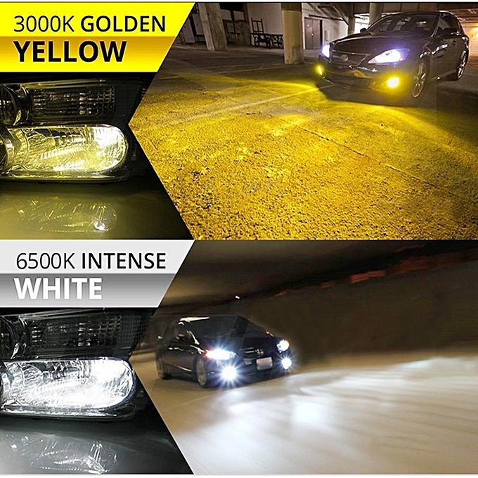 Car Headlight Bulbs(led) Braveway H1 H3 Led Light Bulbs For Car S2 H8 Led Dual Color 3000k 6500k Headlight H7 H11 9005 9006 Led H4 White Yellow Fog Light Back To Search Resultsautomobiles & Motorcycles