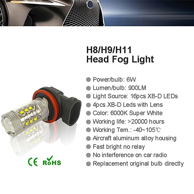 Generic Led Fog Bulbs H11 H15 H7 H4 9005 9006 White 1800lm High