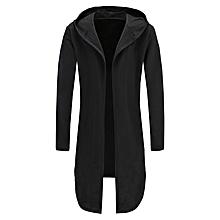 12371bf00e5 S-XXXL Men  039 s Hoody Winter Casual Trench Coat Jacket Cardigan Longline