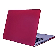 """13"""" Pro With CD-ROM Case, Matt Hard Rubberized Cover For 2008-2012 Macbook Pro 13.3 Inch, Wine Red"""