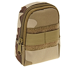 Backpack Style Mini Nylon Accessories Bags Camping Outdoor Sport Casual Waist Pack Zipper Pouch Bag (three Sand Camouflage)