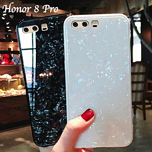 detailed look e2ff3 e519f For Honor 8 Pro Luxury Hard Tempered Glass Case Marble Shell Pattern Design  Glass Back Cover For Huawei Honor 8 Pro Honor8 Pro Housing