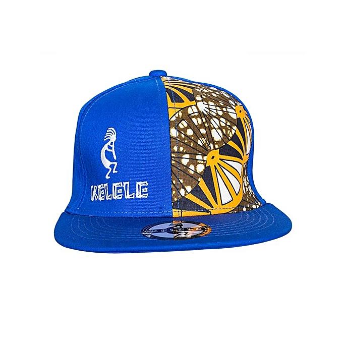 KELELE Royal Blue And Orange Snapback Hat With Kelele Color On Panel ... f6de704196d3