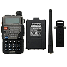 (Bundle) Baofeng UV-5RE 5W 128CH+ 3800mAH Battery VHF/UHF Dual Band Two Way Walkie Talkie(Black)