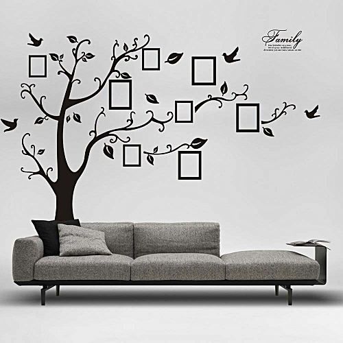 generic 3d diy photo tree pvc wall decals adhesive wall stickers