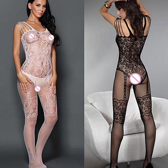 ... Sexy Women Bodystocking Lingerie Fishnet One Piece Jumpsuits Sheer Lace  Mesh Bodycon Bodysuits Babydoll Nightwear ... 315880b66