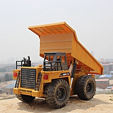 RC Alloy Dump Truck Auto Demonstration Function-Yellow