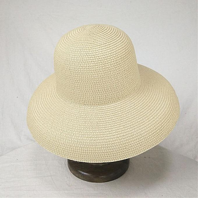 a01c0c1a Women Sun Hats Wide Brim Summer Straw Hats New Natural Black fashion Floppy  Beach Boater Hat