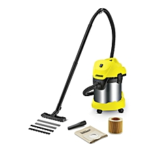 WD 3 PREMIUM ENERGY EFFICIENT WET & DRY VACUUM CLEANER - Yellow