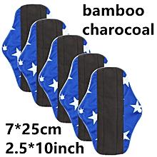 Reusable Bamboo Cloth Washable Menstrual Pad Mama Sanitary Towel Pad Blue M