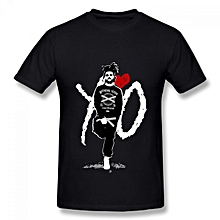The Weeknd XO Abel Tesfaye Singer  Men's Cotton Short Sleeve Print T-shirt Black