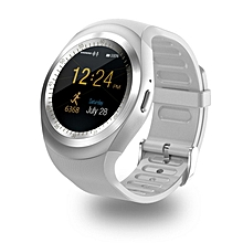 Touch Screen Bluetooth Music  Waterproof Smart Watch TF Smart Phone White Android4.4