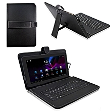 huskspo 10.1'' Inch Android Tablet PC Leather Case Cover USB Keyboard Stand