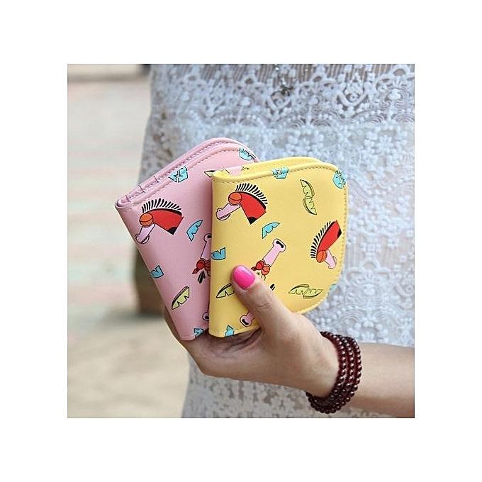 buy fashion fashion korean style printing wallet candy mini pu