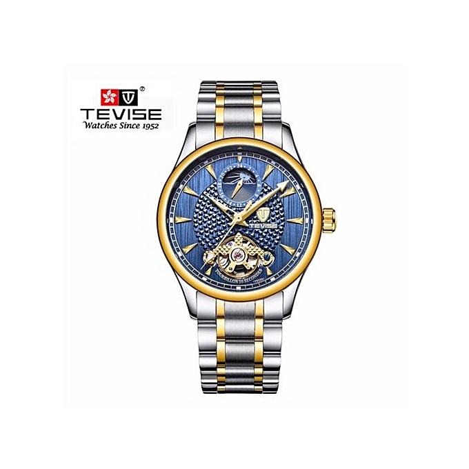 83ee6bd2e05 Top Brand Relogio Automatico Masculino Men Mechanical Watch Fashion Blue  Waterproof Business Luxury Wristwatch Male Clock