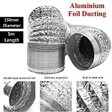 150mm Aluminum Foil Flexible Ducting 5/10M Foil Air Ventilation Duct Hydroponic (5m)
