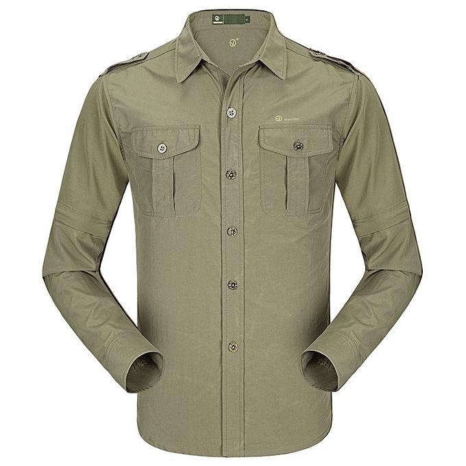 243e3dbb0ffd Mens Summer Thin Anti-UV Long Sleeve Detachable Outdoor Quick-drying Shirts