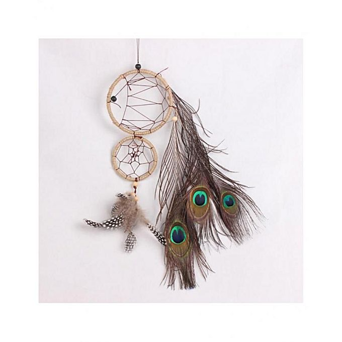 Vintage Two Circle Feather Dream Catcher Home Wall Hanging Decor Jumia Kenya