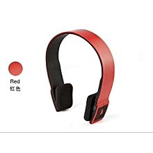Headphone HandsFree Stereo Audio Bluetooth Headset Bluetooth Sports Wireless High Quality Headphones S460 - Red