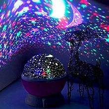 Star Light Rotating Projector Lamp for Kids Bedroom - Purple