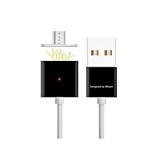 Double Alloy Micro USB Charging Cable For Android Phones And Tablets - Black