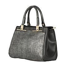Silver and Black CMR CEMRE Shoulder/hand Bag
