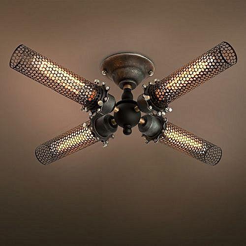 Generic C4003 Grid 4 Lights Semi Flush Mount Ceiling Light