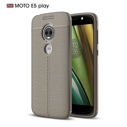 premium selection 5c694 3fca1 Motorola Moto E5 Play Silicone Case Litchi Pattern TPU Cover Play - Gray