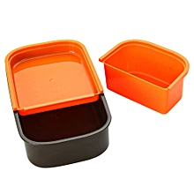 European Style Double Layer Lunch Box 1410ml Microwave With Fork And Spoon