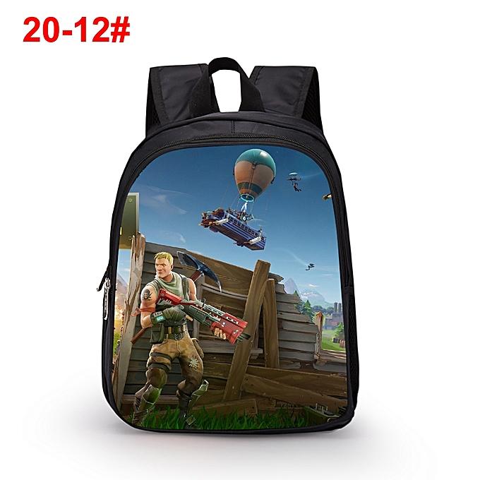 522113d36ed6 Fashion Women Men Backpack Fortnite Character 3D Print Teens Kids Children  Travelling Shoulder Bag Schoolbag