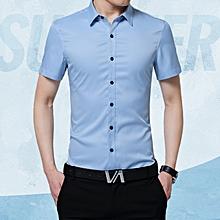Men's New Style Fashion Shirts Korea Casual Slim Fit Shirts Easy-care Shirts.H12-1-7