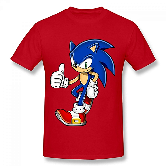 Generic Cool Sonic Hedgehog Men S Cotton Short Sleeve Print T Shirt
