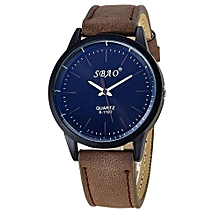 SBAO Fashionable Personality Trends Symphony Mirror High-grade Business Belt Watch- Coffee