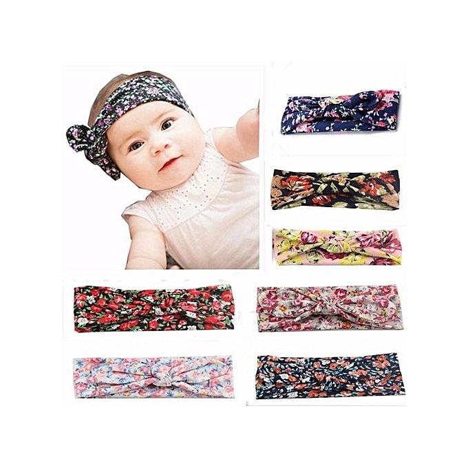 49bc64911 Fashion New Children Baby Stamp Elastic Hair Band Europe Rabbit Ears ...