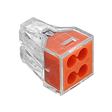 10Pcs 4Pin Wire Connector Flame Retardant Fast Spring Terminal Block Electric Cable Connector