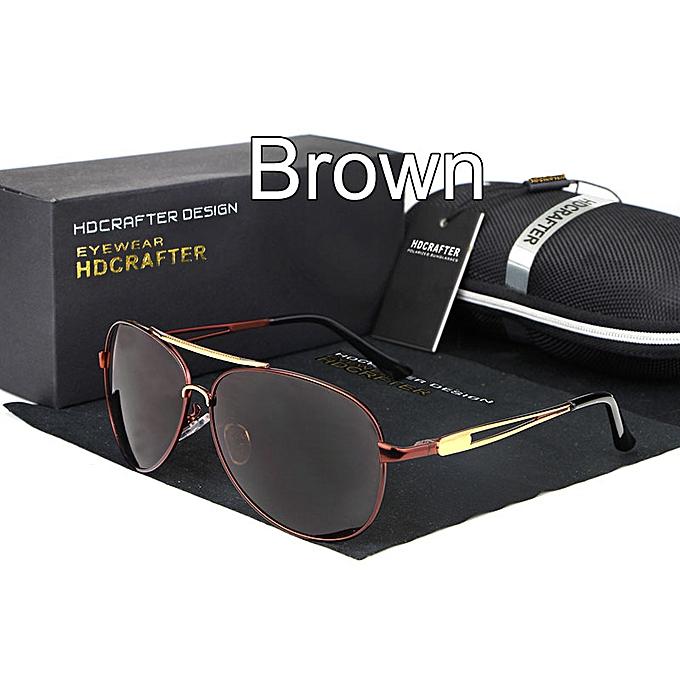 3994a8036 HDCRAFTER Brand Pilot Birthday gift anniversary gift sunglasses Men Retro  Metal Polarized Lens Men's Aviator Sun