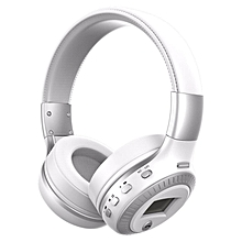 Zealot B19 Wireless Headset HiFi Stereo Bluetooth Over-The-Ear Headphones With LCD Display Microphone For Phone Support TF/SD/FM (White) BDZ Mall