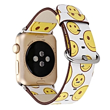 Fashion Pattern Leather Strap Replacement Watch Band For Ale Watch 38mm-As Shown