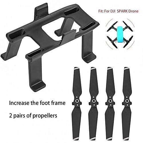 Sweatbuy Heightened Landing Gear Bracket + Quick-Release Propellers Blades  Accessory Set For DJI SPARK
