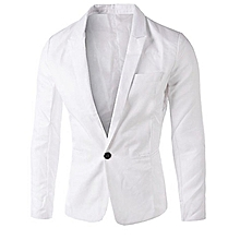 Men's Slim Fit Blazer Jacket - White