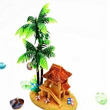Aquarium Aquarium Decorative Oxygen Bubble Mini Creative Products Yurts Coconut -As shown