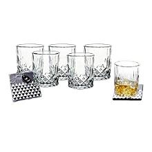 6PC - Whiskey Glass Set
