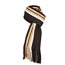 Black, Brown And White Cashmere Scarf